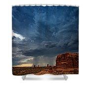 Distant Desert Storm Shower Curtain