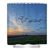 Distant Farm Shower Curtain