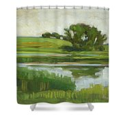 Distant Farm Shower Curtain