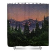 Distant Glow Shower Curtain