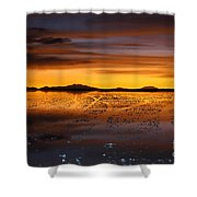 Distant Hills At Sunset Shower Curtain