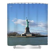 Distant Liberty New York Shower Curtain