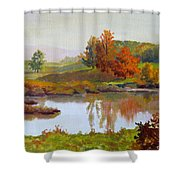 Distant Maples Shower Curtain