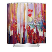Distant Memory - A Semi Abstract Landscape Shower Curtain