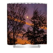 Distant Moon Shower Curtain