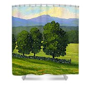 Distant Mountains Shower Curtain