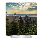 Distant Mountains To The East Shower Curtain