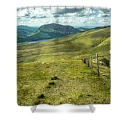 Distant Path Shower Curtain by Nick Bywater