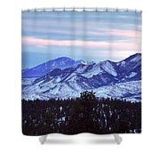 The Distant Peaks Of Pikes Shower Curtain