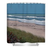 Distant Pier Shower Curtain