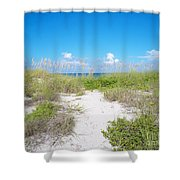 Distant Sea Shower Curtain
