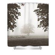 Distant Silence Shower Curtain