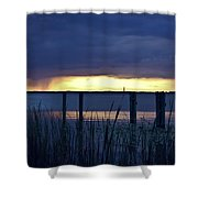 Distant Storms At Sunset Shower Curtain