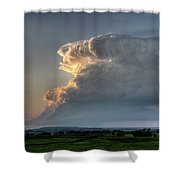 Distant Thunderstorm Shower Curtain