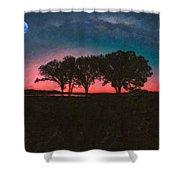 Distant Trees Under Milkyway Horizon By Adam Asar 3 Shower Curtain