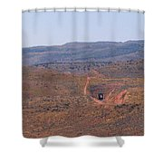 Distant Tunnel Shower Curtain