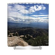 Distant Valley Shower Curtain