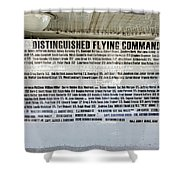 Distinguished Flying Command  Shower Curtain