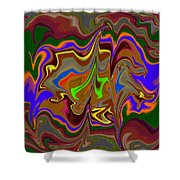 Distorted Dreams Shower Curtain