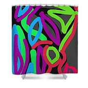Distorted Geometry Shower Curtain