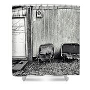 Distressed Building B Shower Curtain