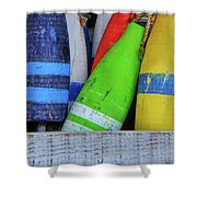 Distressed Buoy Shower Curtain