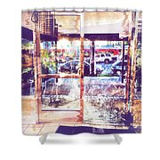 Distressed City Shower Curtain