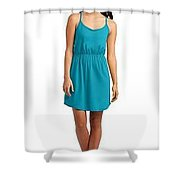 District Juniors Strappy Dress Shower Curtain