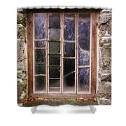 Disused Watermill Window Shower Curtain