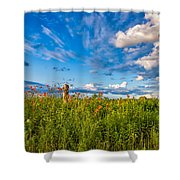 Ditch View  Shower Curtain