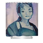 Diva I Maria Callas  Shower Curtain