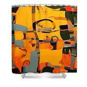 Diverging Pathways Shower Curtain
