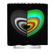 Divided Heart Shower Curtain