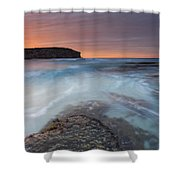 Divided Tides Shower Curtain