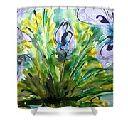 Divine Blooms-21196 Shower Curtain