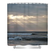 Divine Intervention Shower Curtain by Simon Wolter