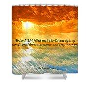 Divine Light - Ss1200b Shower Curtain