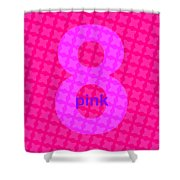 Divine Pink Number Eight Shower Curtain