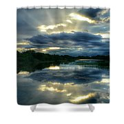 Divine Rays Shower Curtain
