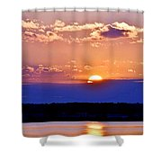 Divine Sunset On The Indian River Bay Shower Curtain