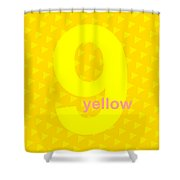 Divine Yellow Number Nine Shower Curtain