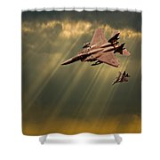 Diving Eagles Shower Curtain