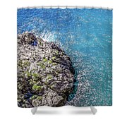 Diving In Italy Shower Curtain