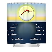 Diving Into Unknown Waters Shower Curtain