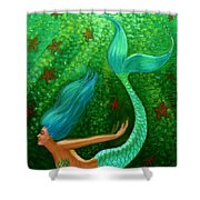 Diving Mermaid Fantasy Art Shower Curtain