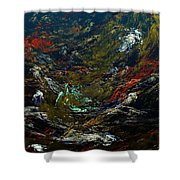 Diving The Reef Series - Sea Floor Abstract Shower Curtain