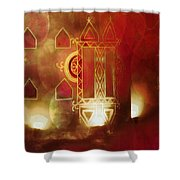 Diwali Card Lamps And Murals Blue City India Rajasthan 2g Shower Curtain