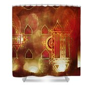 Diwali Card Lamps And Murals Blue City India Rajasthan 2h Shower Curtain