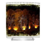 Diwali Lamps And Murals Blue City India Rajasthan 2b Shower Curtain
