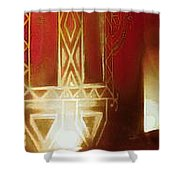 Diwali Lamps And Murals Blue City India Rajasthan Wide 2c Shower Curtain